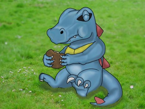 Totodile by AndyGarchomp