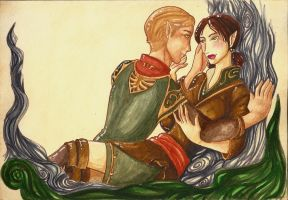 DAO: Tamlen and Mahariel by tahara