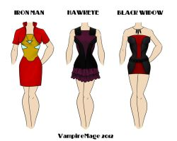 Avengers Fashion #2 by FangsAndNeedles