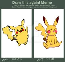 Before And After Pikachu by aprilmdesigns