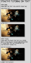 Text Tutorial by Stealth14