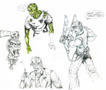 Zombie Doodles by BillyJebens