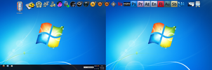Windows 7 Dual Desktop by Tech-Dave