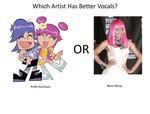 Which Artist Has Better Vocals Info by jakebasketball17