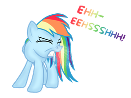 Rainbow dash sneeze by ProPonyPal