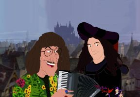 Weird Frollo + Judge Al Yankovic (with background) by AndrewSS23