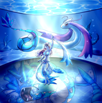 Water Gym Leader: Rin by tyanimalgirl