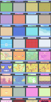 Multi-Generational Box Backgrounds. by malice936