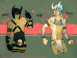 Apollo VS Faust by TwistedAsphyxia