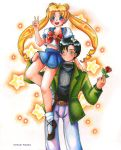 Usagi and Mamoru by Himoki