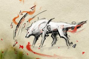 Okami Sketch 7 by GAVade