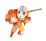 -- Chibi commission: Aang -- by Kurama-chan