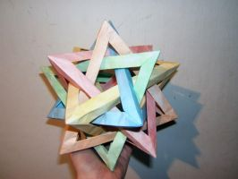 Five Intersecting Tetrahedra by SkyWookiee