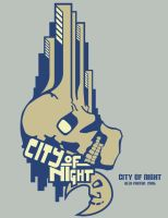 T-Shirt Design: City of Night by MoonlitxReverie