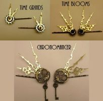 Steampunk Bobby Pin Sets by pervyyaoifancier