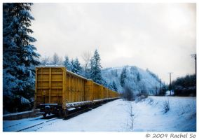 Yellow Freight Train by butterfly36rs