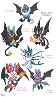 Swoobat variants by Axl-fox