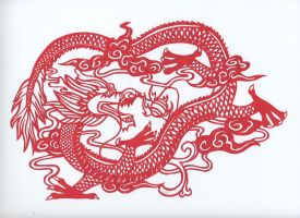 Chinese Dragon Paper Cut by gamerchick56