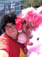 Steven And Rose Share A Selfie with Lion by Closer-To-The-Sun