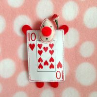Red Card Guard Plushie (Alice in Wonderland) by MadameWario