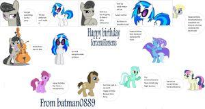 B-day Party (starring Octavia and Vinyl Scratch) by batman0889