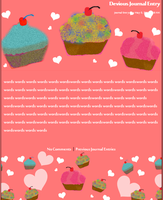 iHeartCupcakes Journal Skin by lemonwhogirl