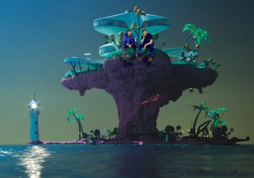 It's Jamion on a Plastic Beach by Stassiana