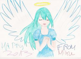 Happy 2013 from Miku Hatsune! by SarahShirabuki8000