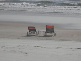 ocean and chairs by animepunk