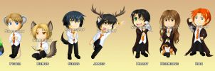 Keychains - Harry Potter by Silberry