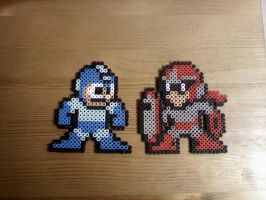 Ol school Megaman and Protoman by FatalJapan