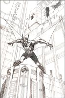 Batman Beyond Pencils by duanenicholsart