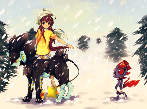 Challenging The Blizzard by BiancaEmoRapinRocker