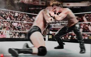 Jericho VS Orton on Raw Wallpaper by briorey