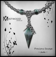 Precious Savage - unisex necklace jade version by Aedil