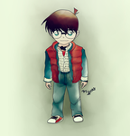 Conan Edogawa (dressed like Marty McFly) by alinexJonas