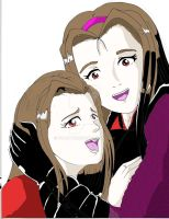 Lucy y Zoe by piojote