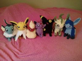 Eeveelutions All Together by ShearViscosity