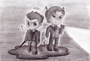 Sam and Dean by Shaed-Knightwing