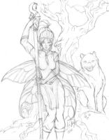 Druidish Fairy Sketch WiP 5 by ridia
