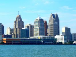 Detroit Skyline by HappyChaoticMelody