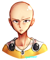 Saitama Sketch by cyandreamer