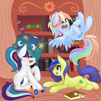 Library Sleepover by Miss-Vani