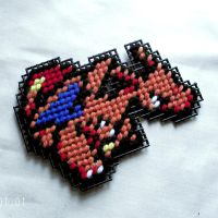 Plastic Canvas Charizard by agorby00