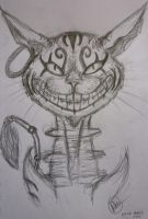 Cheshire Cat Sketch by HopeDragon