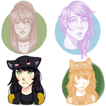 Commish: Triskata, xSammyKayx, NekoChan-on-CS by GemmilyArt