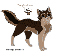 Tangledstorm-Cat form by UmbreonthePirate
