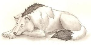 Sleeping Daemon by HekateLesedi