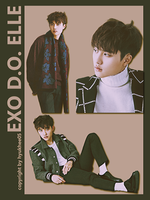 EXO DO Elle png pack 3P by hyukhee05