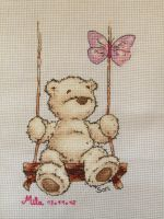 Butterfly teddy x-stitch by Santian69